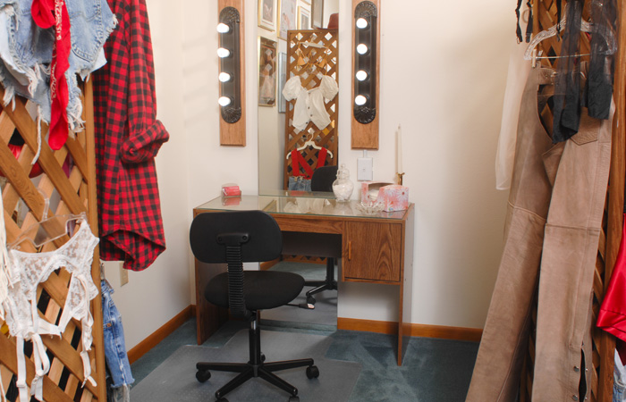 Picture of dressing room